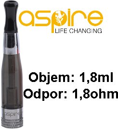 aSpire CE5 BVC Clearomizer 1,8ml 1,8ohm black