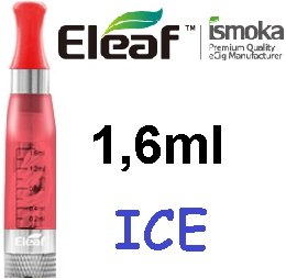 iSmoka-Eleaf ICE Clearomizer 2,4ohm 1,6ml Red