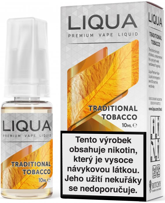 LIQUA CZ Elements Traditional Tobacco 10ml-12mg (Tradiční tabák)