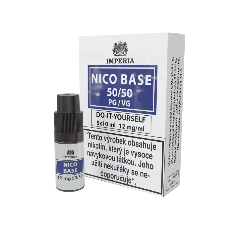 Nikotinová báze Imperia NICO BASE 50VG/50PG - 12mg 5x10ml