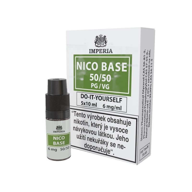 Nikotinové báze Imperia NICO BASE 50VG/50PG - 6mg 5x10ml